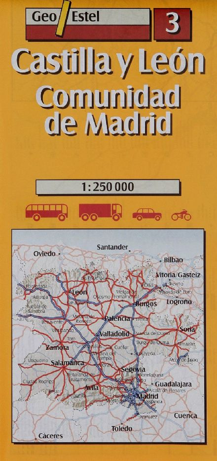 Geo Estel Map 03 - Castilla y Leon & Madrid & surroundings- 1:250,000